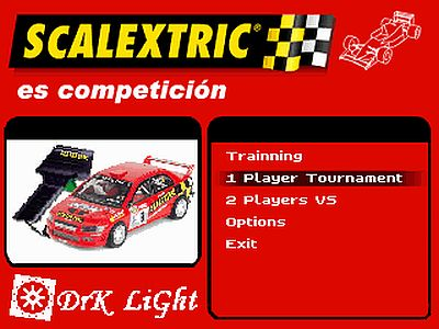 Scalextric screen 1